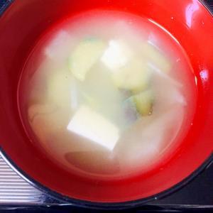 なすと豆腐と大根のお味噌汁