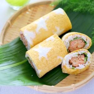 鮭のお星さまロール寿司