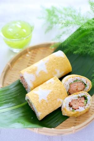 七夕☆鮭のお星さまロール寿司
