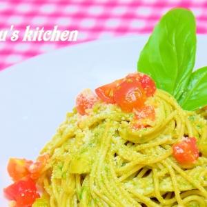 野菜を合わせて使う「バジルソース系パスタ」