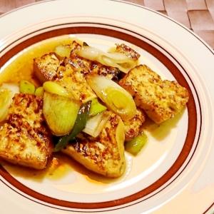 豆腐のねぎバターポン酢ソテー