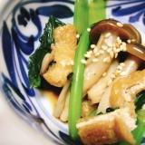 【夫婦のおつまみ】小松菜としめじの煮浸し
