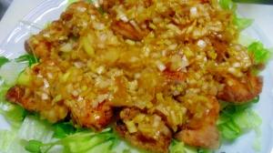 鶏むね肉の油淋鶏(ユーリンチー)