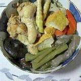 手羽元と山菜の煮物