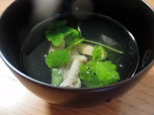 鰻の肝のお吸い物