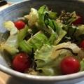 レタスと塩昆布としらすとトマトのサラダ