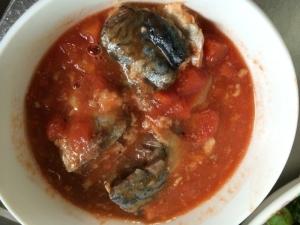 鯖のトマトカレー