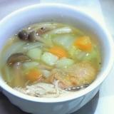 ローストチキンが余ったら~具だくさん食べるスープ