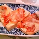 堅豆腐のキムチーズ