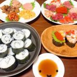 ♡手乗せ寿司♡みんなで楽しく♪ニュースタイルお寿司