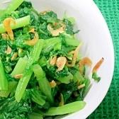 ダイエット★わさび菜のゴマ油炒 48Kcal