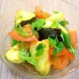簡単‼︎泉州の水ナスとトマトのサラダ