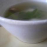 ダシダでマッシュルームとかぶのスープ