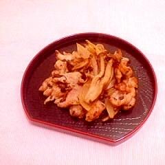 紫蘇風味♪豚小間と玉葱の味噌炒め