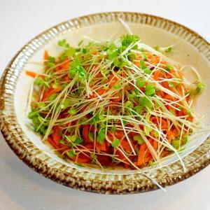 簡単にお洒落な前菜!にんじんとスプラウトのラペ