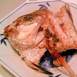 鯛のお頭、塩麹焼き