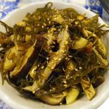刻み昆布椎茸ちくわの簡単麺つゆ煮