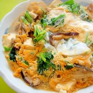 豆腐と豚肉ほうれん草の卵とじ
