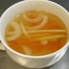ブロッコリーの茎の中華スープ