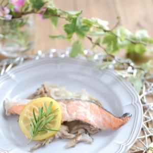 レンジで簡単イタリアン♡鮭のレモン蒸し