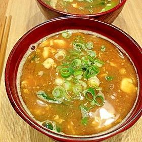 くずし豆腐のお味噌汁