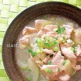 山椒香る♪冬瓜と鷄むね肉のスープ煮