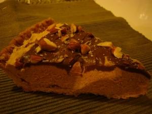 チョコレート、アーモンド&クリームチーズのパイ