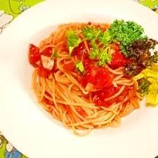 ぷらすナポリタンソース☆トマトソースパスタ