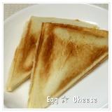たまごとチーズのホットサンド♪