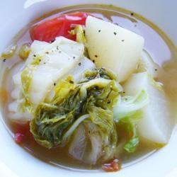 簡単☆白菜と大根のスープ