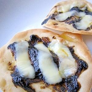 餃子の皮で★海苔の和風おつまみピザ