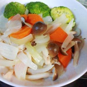 簡単おいしい☆オリーブオイルで温野菜♪