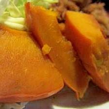 フライパンで簡単にできるかぼちゃの煮つけ☆