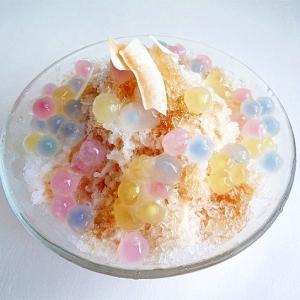 タピオカココナッツかき氷