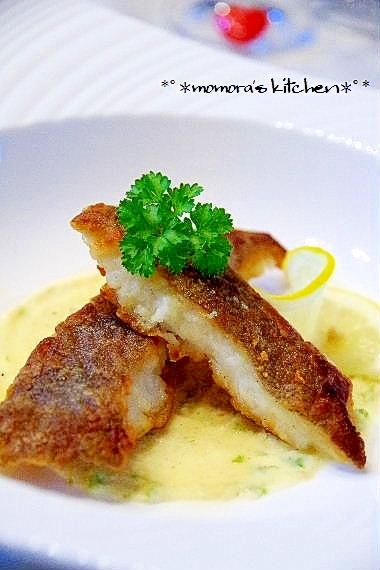 魚料理に簡単♡レモンバタークリームソース♪
