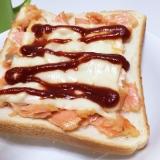 残った焼き鮭で☆チーズとろ~り鮭トースト