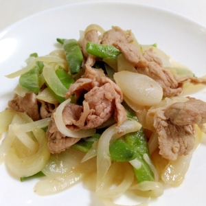 豚肉といんげんの和風炒め