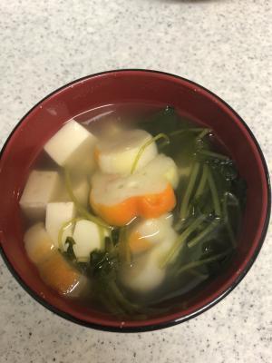簡単!豆腐と麩のお吸い物!