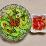 ゴーヤとタコミートのサルサ風サラダ