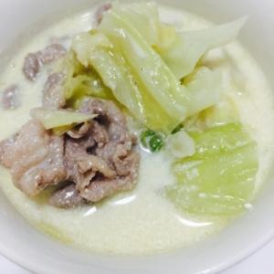 【簡単】豚とキャベツのクリーム煮