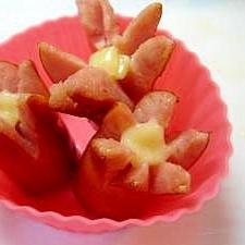 お弁当に*お花のソーセージ*