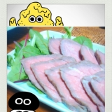 ローストビーフ(*つ▽`)っ))わさび醤油をつけて