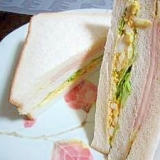 食パンで★がっつりサンドイッチ♪