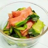 スパムと小松菜の和え物