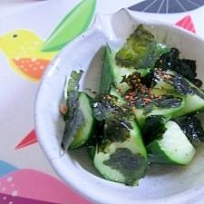 簡単!胡瓜の韓国海苔和え★