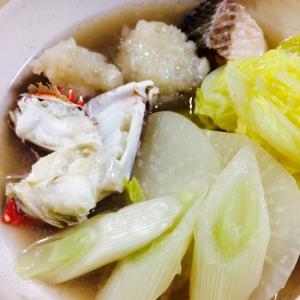 【ガサツ料理】ワタリガニとレンコンつみれで旨味鍋