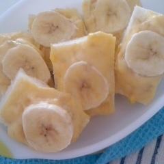 *:☆離乳食幼児食・バナナカスタードトースト☆:*