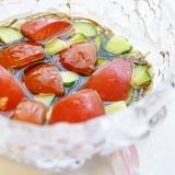涼しげ ! もずく酢 & トマトときゅうり