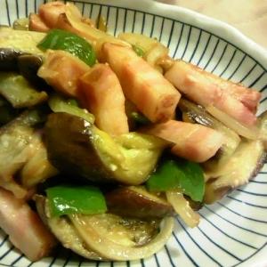 夏野菜の黒酢ケチャップ炒め