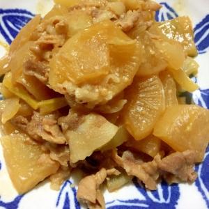 大根と玉ねぎと豚こま肉の味噌煮